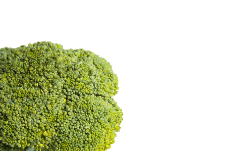 Green freshh broccoli salad isolated on white background