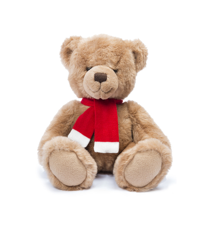 Teddy bear isolated on white Archivio Fotografico