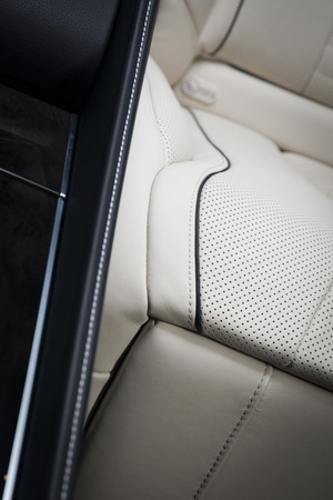 Back passenger seats in modern luxury car, car interior details Archivio Fotografico