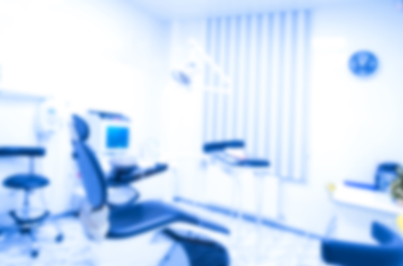 Blurred image of the dentist office, medical blurred background. Dentist cabinet.