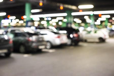 Abstrakter Unschärfe-Parkplatz für Hintergrund