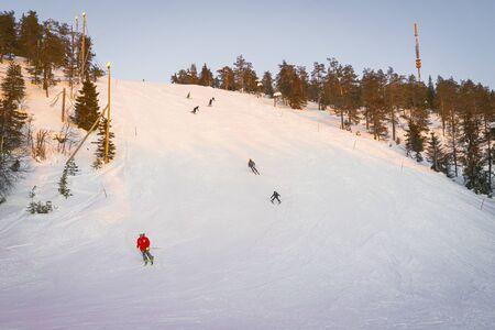 Winter sports resort in Ruka Finland