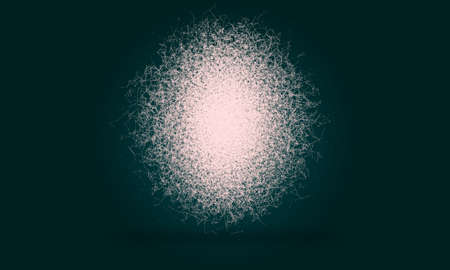 Abstract digital background with connected cybernetic particles Archivio Fotografico
