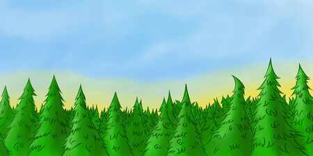 firtree: forest background