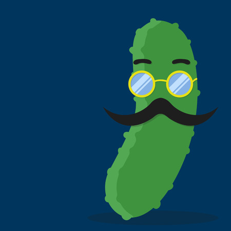 chap: cucumber with mustache