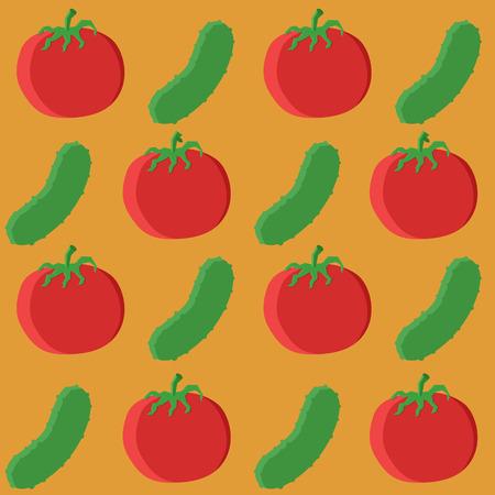 cucumber: cucumber and tomato pattern