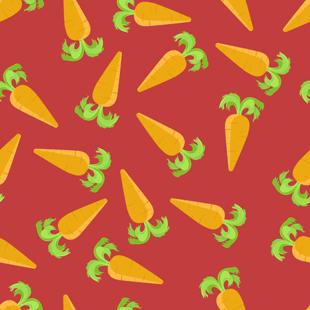 carrot cartoon: Vector seamless pattern with orange carrots. Print pattern carrot. Cartoon carrots pattern. Carrot background. Vectores