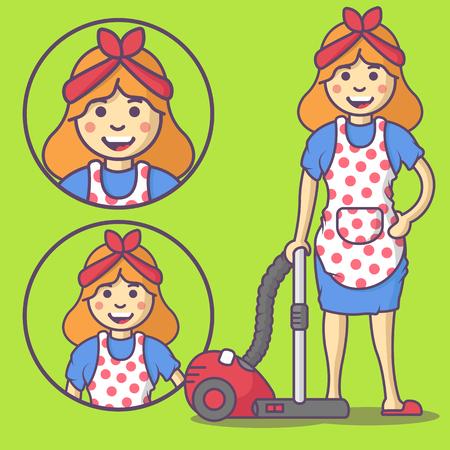 Hausfrau Reinigung Kochen Waschen Bugeln Blumen Giessen Hfg