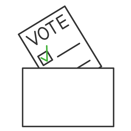 elect: Voting forms. Page for vote icon with box.