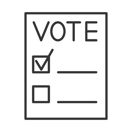 Voting forms. Page for vote icon