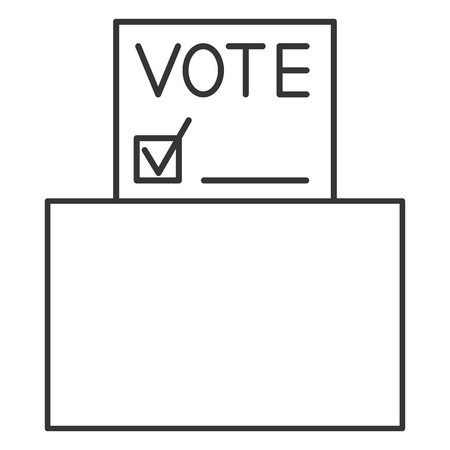 Voting forms. Page for vote icon with box.