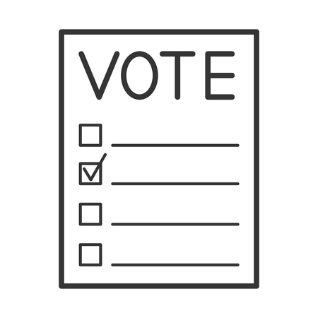 balloting: Voting forms. Page for vote icon