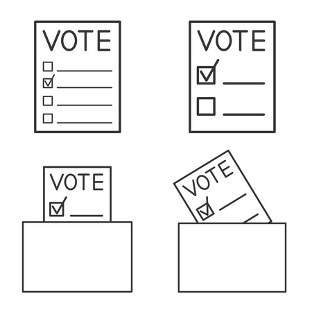 Set voting forms. Page for vote icon with box