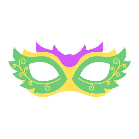 マルディグラ マスク。お祭りやパーティーのアイコンのカラフルな小道具  イラスト・ベクター素材