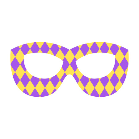 Mardi gras mask. Icon colorful props for festival or party