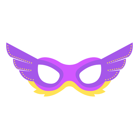 Mardi gras mask. Icon colorful props for carnival or theater. Illustration