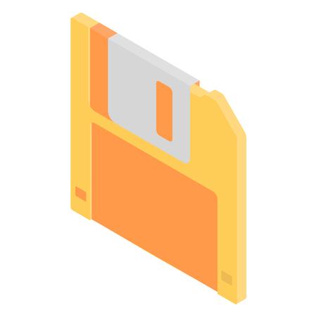 floppy disk: Retro floppy disk isometric icon Illustration