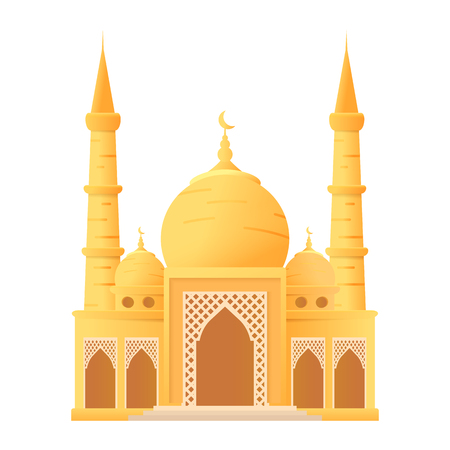 Ramadan kareem beautiful mosque isolated icon