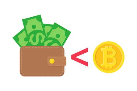 Bitcoin or monnaie meilleure argent Banque d'images - 91279642