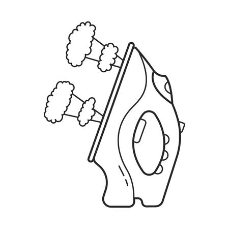 Icon line electric iron illustration.