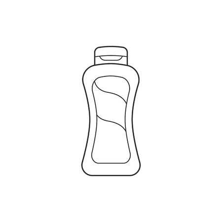 Icon line bottle shampoo illustration.