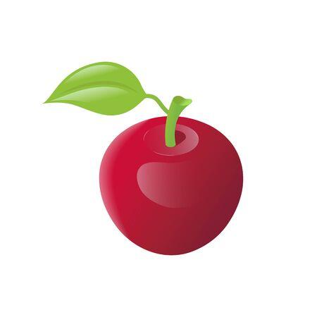 Red apple realistic isometric icon Illusztráció