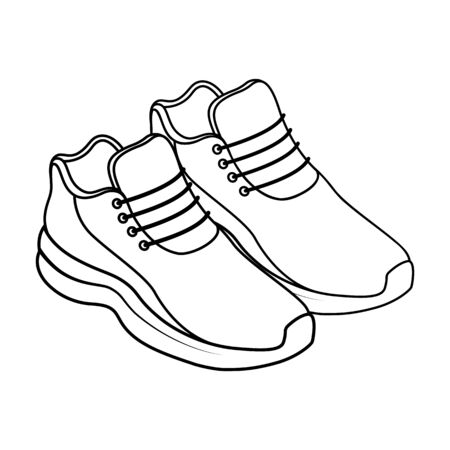 Sneaker shoe outline isometric icon