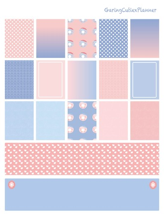 planner: cute pantone 2016 sticker planner printable Illustration