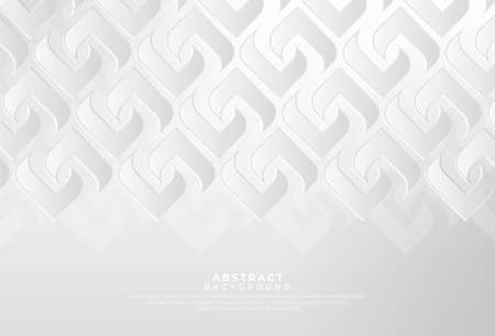 Modern white gray abstract background creative design. Abstract light silver vector, luxury texture used in cover design, book, poster, advertising. Vector illustration