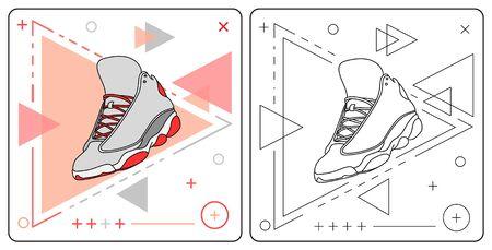 basket shoe easy editable by garistipis Stock Vector - 128050138