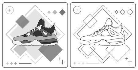 monochrome basket shoe easy editable by garistipis Stock Vector - 128050144