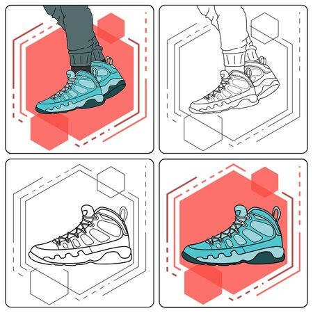 aqua boots easy editable