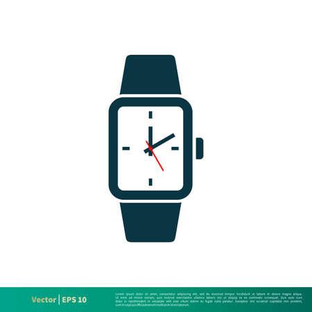 Watch Icon Vector Logo Template
