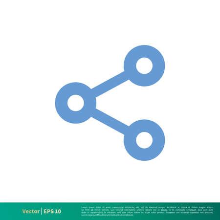 Share Icon Vector Logo Template