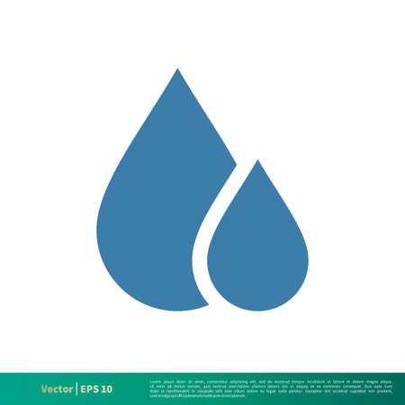 Drop Water Icon Vector Logo Template