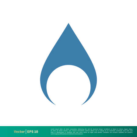 Drop Water Icon Vector Logo Template