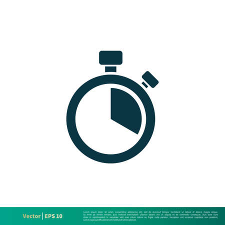 Stopwatch Icon Vector Logo Template