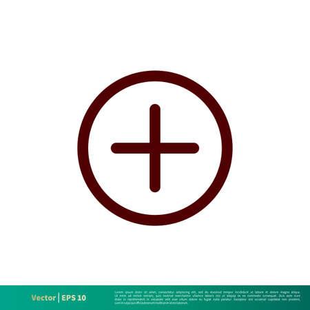 Plus Icon Vector Logo Template Illustration