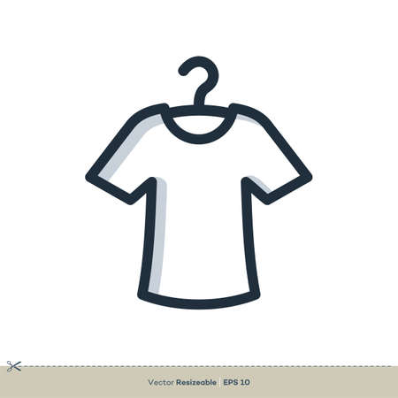 T-Shirt Icon Vector Logo Template Illustration Design. Vector EPS 10. Stock Illustratie