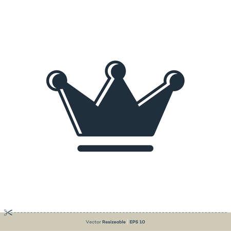 Crown Icon Vector Logo Template Illustration Design. Vector EPS 10.