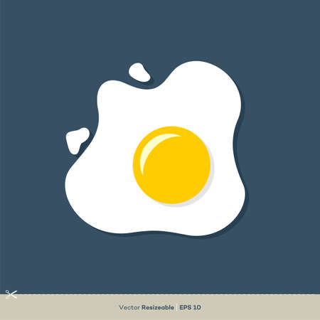 Fried Egg Icon Vector Logo Template Illustration Design. Vector EPS 10. Illustration