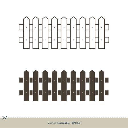 Fence icon Vector Logo Template Illustration Design. Vector EPS 10. 版權商用圖片 - 149268084