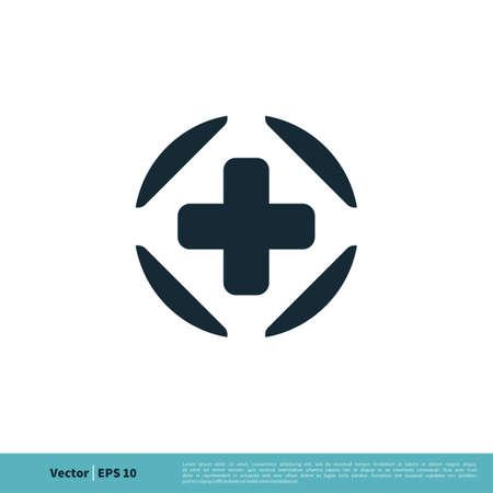 Healthcare Cross Icon Vector Logo Template Illustration Design. Illustration