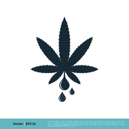 Marijuana Leaf, Hemp Medicine Icon Vector Logo Template Illustration Design. Illustration