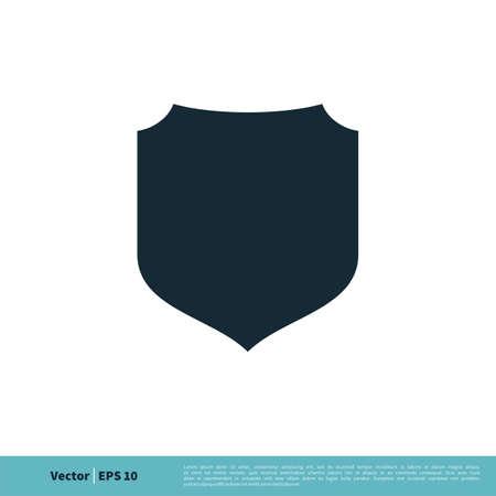 Shield Icon Vector Logo Template Illustration Design.