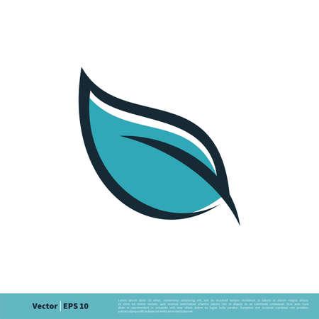 Line Art Leaf Icon Vector Logo Template Illustration Design.