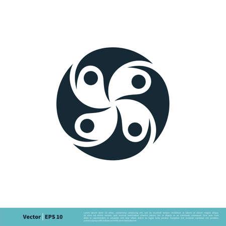 Human Sporty Figure Icon Vector Logo Template Illustration Design.