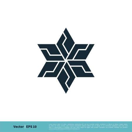 Star David Icon Vector Logo Template Illustration Design.