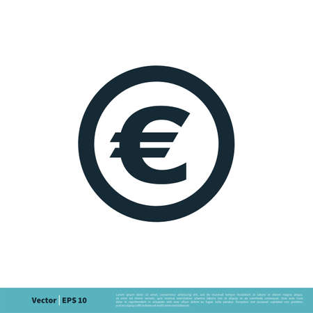 Currency Sign, Euro Money Icon Vector Logo Template Illustration Design. Illustration