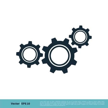 Gear Engineering Icon Vector Logo Template Illustration Design. Illustration